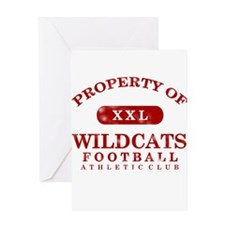 Property of Wildcats Greeting Card