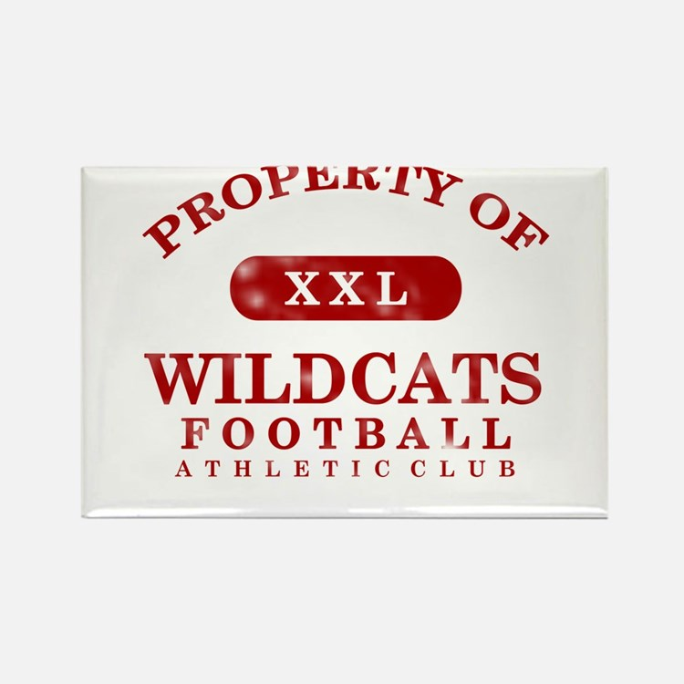 Property of Wildcats Rectangle Magnet