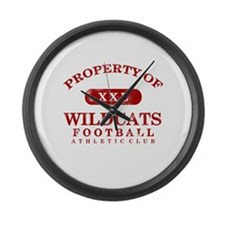 Property of Wildcats Large Wall Clock