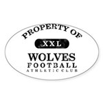 Property of Wolves Sticker (Oval)