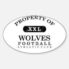 Property of Wolves Sticker (Oval)