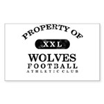 Property of Wolves Sticker (Rectangle)
