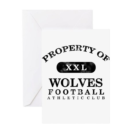 Property of Wolves Greeting Card