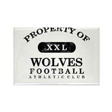 Property of Wolves Rectangle Magnet