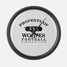 Property of Wolves Large Wall Clock