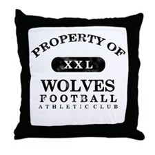 Property of Wolves Throw Pillow
