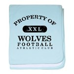 Property of Wolves baby blanket