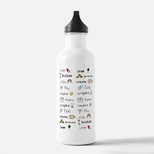Motivational Words Water Bottle