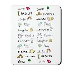 Motivational Words Mousepad