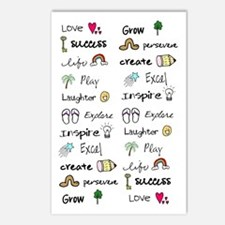 Motivational Words Postcards (Package of 8)