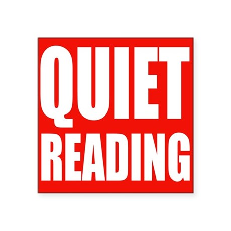 Quiet Reading Sticker