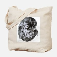 Newfoundland Dog Portrait Tote Bag