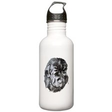 Newfoundland Dog Portrait Water Bottle