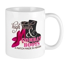 High Heels & Black Combat Boots Small Mug