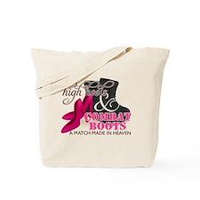 High Heels & Black Combat Boots Tote Bag