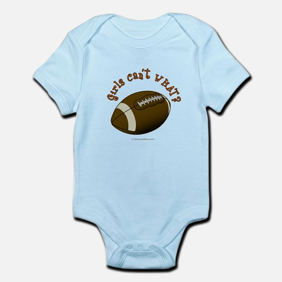 Football - Orange Text Infant Bodysuit