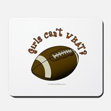 Football - Orange Text Mousepad