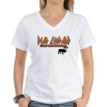 Deaf Leopard Women's V-Neck T-Shirt