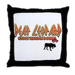 Deaf Leopard Throw Pillow