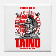 Proud to be Taino 3 Tile Coaster