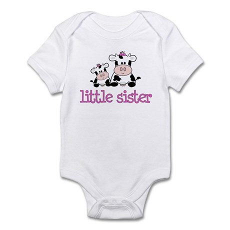 Little Sister Cow Infant Bodysuit
