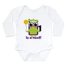 Hoot Owl 1st Birthday Long Sleeve Infant Bodysuit