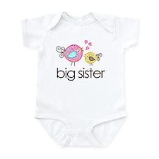 Whimsy Birds Big Sister Infant Bodysuit
