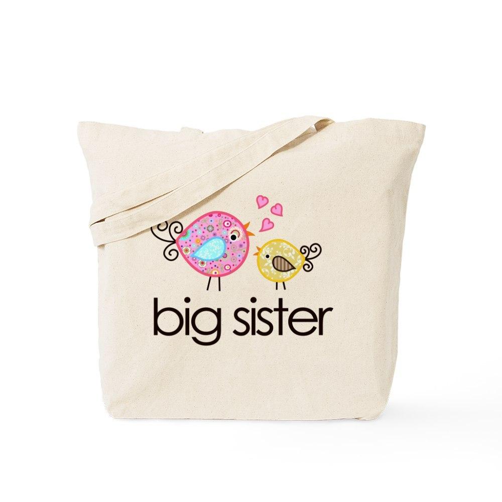 CafePress Whimsy Birds Big Sister Tote Bag