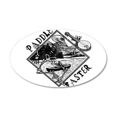 Paddle Faster Skeleton 22x14 Oval Wall Peel