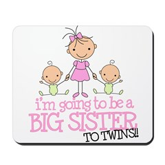 Big Sister to Twins Mousepad