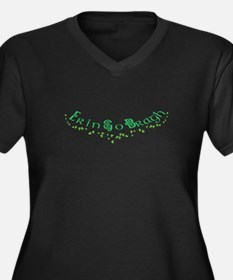 Unique Ireland forever Women's Plus Size V-Neck Dark T-Shirt