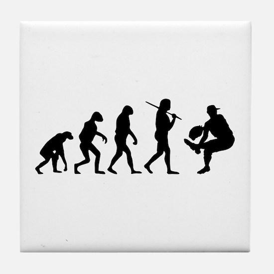 The Evolution Of The Baseball Pitcher Tile Coaster