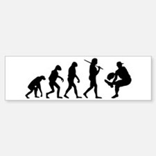 The Evolution Of The Baseball Pitcher Bumper Bumper Sticker