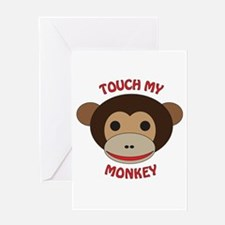 Cute Little monkey Greeting Card