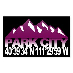 Park City Sticker (Rectangle)