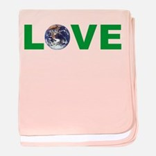 Love Your Mother Earth Day baby blanket