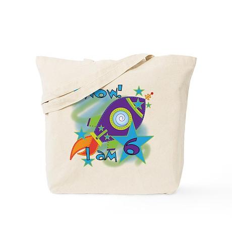 Rocket Ship 6th Birthday Tote Bag