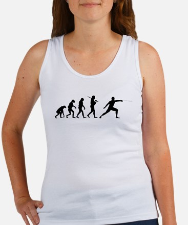 The Evolution Of Fencing Women's Tank Top