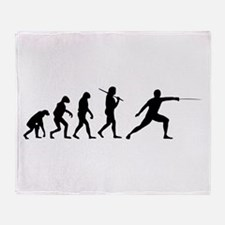 The Evolution Of Fencing Throw Blanket
