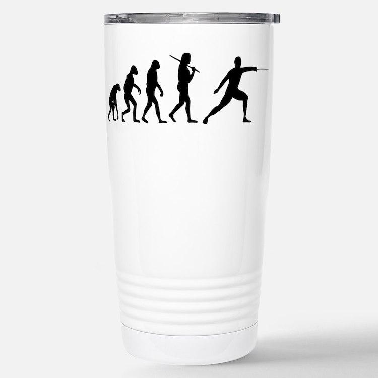 The Evolution Of Fencing Travel Mug