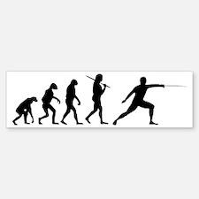 The Evolution Of Fencing Bumper Bumper Sticker