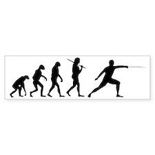 The Evolution Of Fencing Bumper Sticker