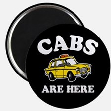 """Cabs Are Here 2.25"""" Magnet (100 pack)"""