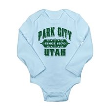 Park City Old Style Green Long Sleeve Infant Bodys