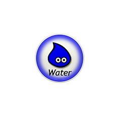 Mini Button - Water