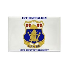 DUI - 1st Bn - 15th Infantry Regt with Text Rectan