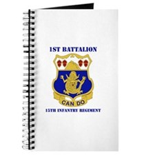 DUI - 1st Bn - 15th Infantry Regt with Text Journa