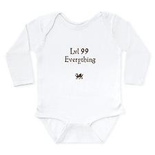 lvl 99 Everything Long Sleeve Infant Bodysuit