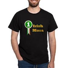 No. 1 Irish Mom Black T-Shirt