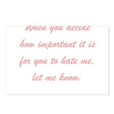 Hate Me Postcards (Package of 8)